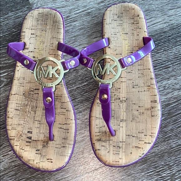 Mk Purple Jelly Flip Flops Sandal
